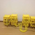 Waterschade drogen van parketvloer bij Stedelijk Museum Amsterdam